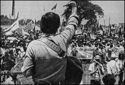Dean Reed in Chinandega 1. Mai 1984